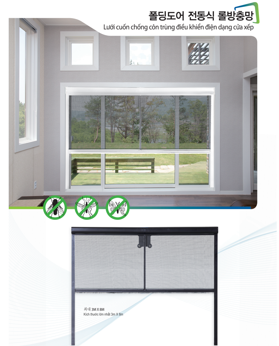 Electric-controlled insect net with folding doors